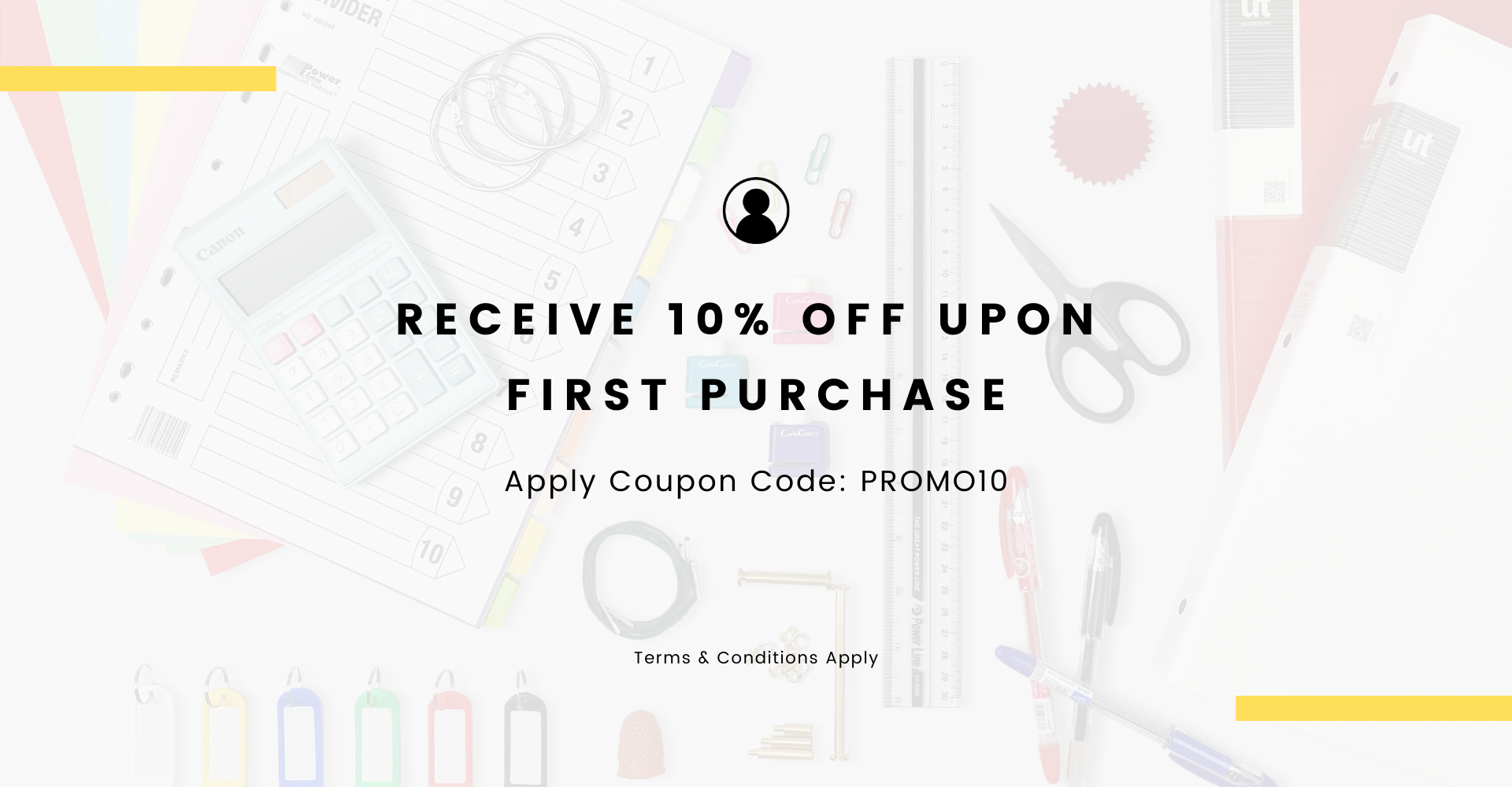 Well Stationery 10% off first time purchase