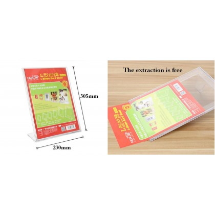 DE5036 A4 Acrylic L-Shape Display Stand / Brochure Holder